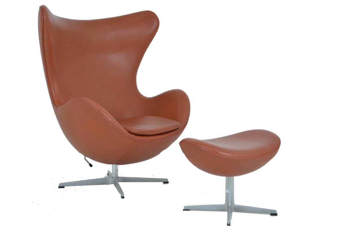 egg chair footstool by arne jacobsen for fritz hansen for sale at pamono. Black Bedroom Furniture Sets. Home Design Ideas