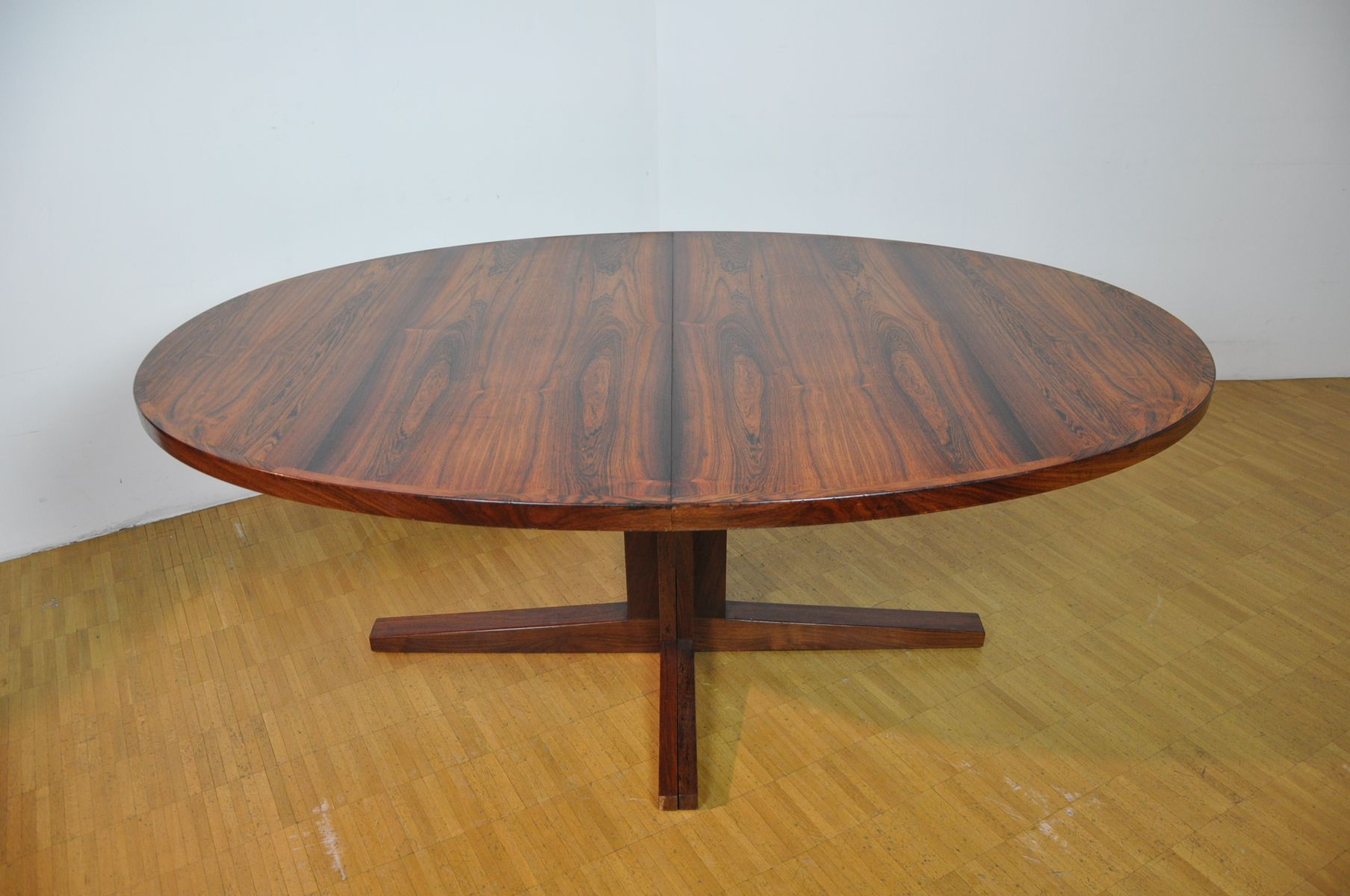 large oval mid century dining table from dyrlund for sale at