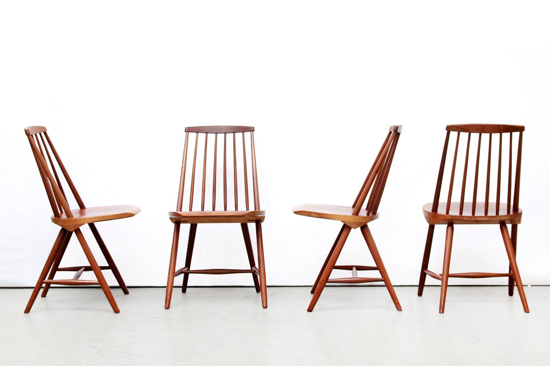 SH45 Teak Chairs by Yngve Ekström for Nassjo Stolfabrik 1960s