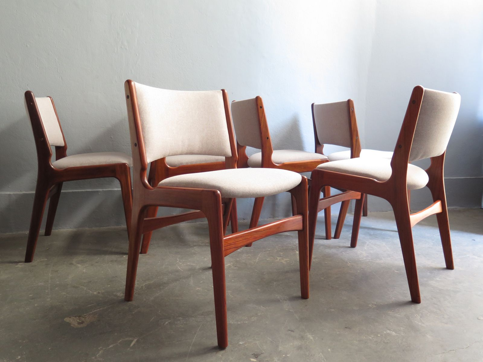 danish rosewood dining chairs set of 6 for sale at pamono