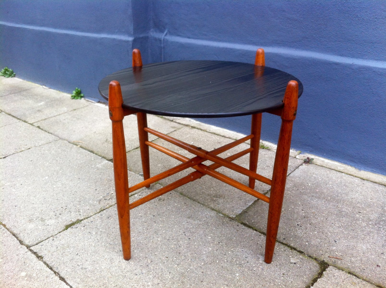 Mid Century Danish Teak U0026 Formica Side Table By Poul Hundevad For PJ  Furniture, 1960s For Sale At Pamono