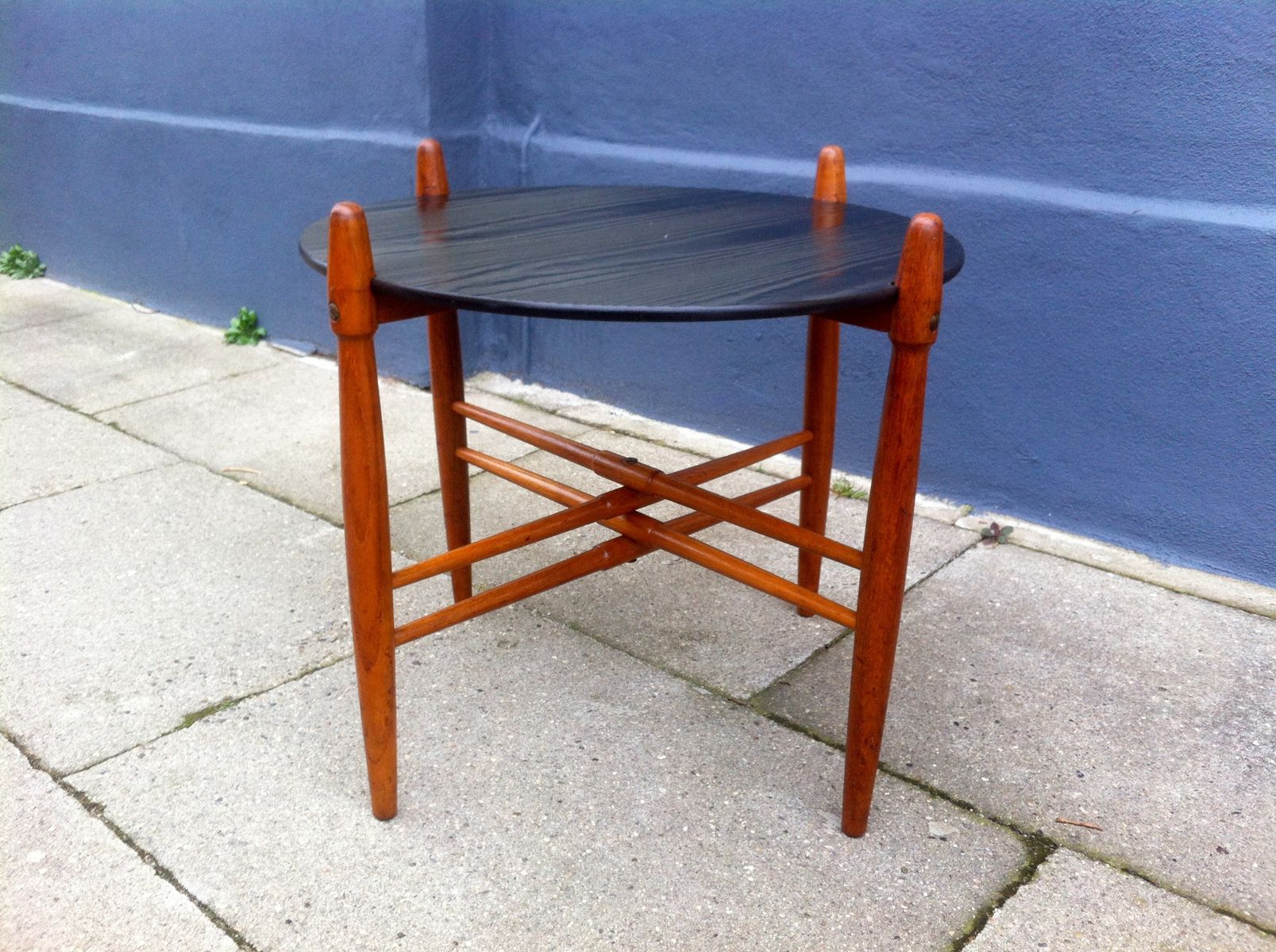 Mid Century Danish Teak & Formica Side Table by Poul Hundevad for