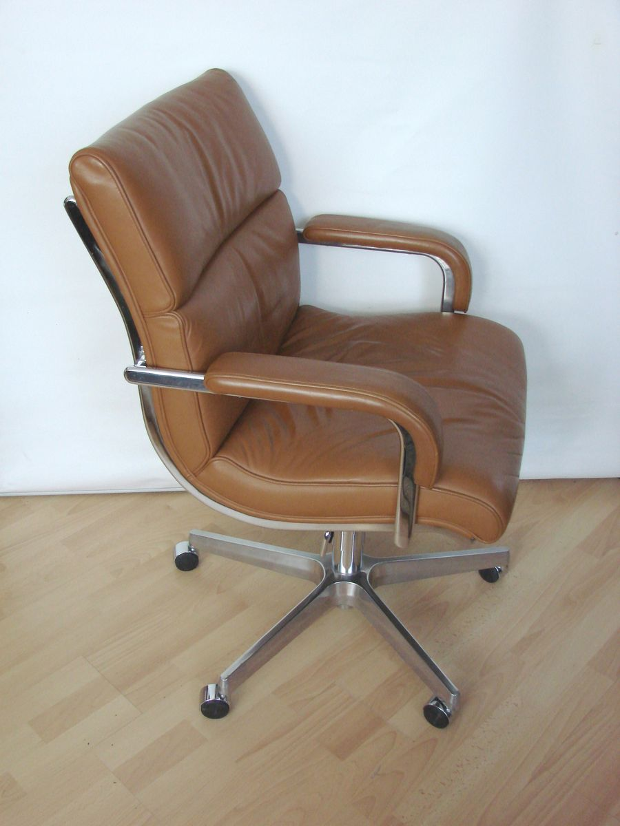 Italian leather office chair 1980s for sale at pamono for Chair in italian