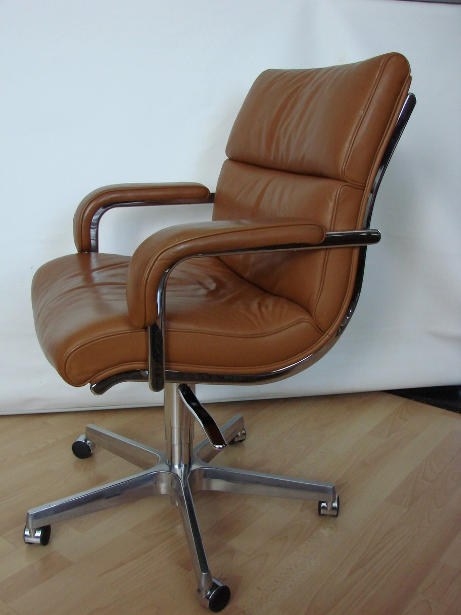 Italian leather office chair 1980s for sale at pamono for 1980s chair