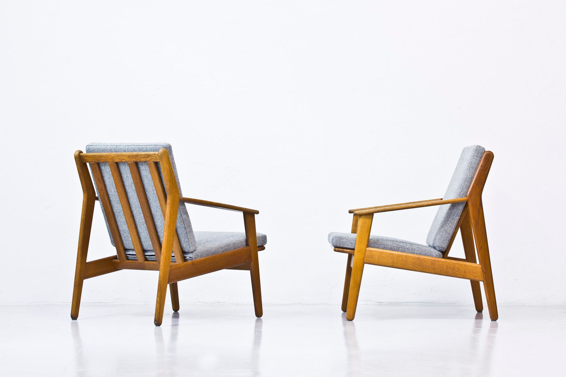Danish Easy Chairs by Poul Volther for FDB 1950s Set of 2 for