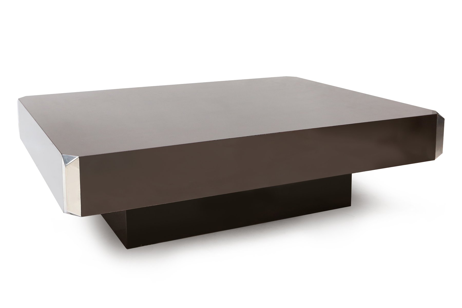 French Coffee Table by Willy Rizzo 1970s for sale at Pamono