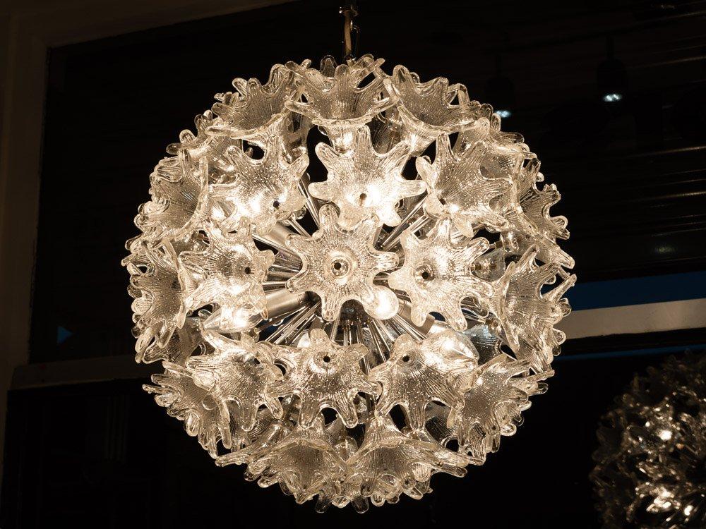 vintage sputnik kronleuchter aus mundgeblasenem glas von. Black Bedroom Furniture Sets. Home Design Ideas
