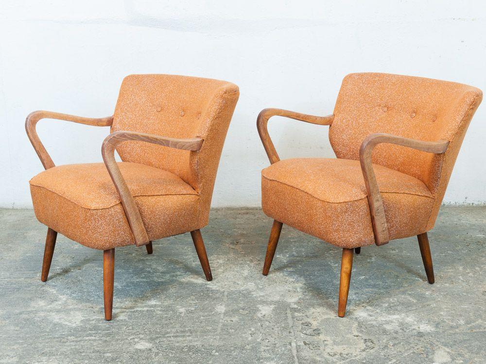 vintage orange cocktail chairs 1940s set of 2 for sale at pamono. Black Bedroom Furniture Sets. Home Design Ideas
