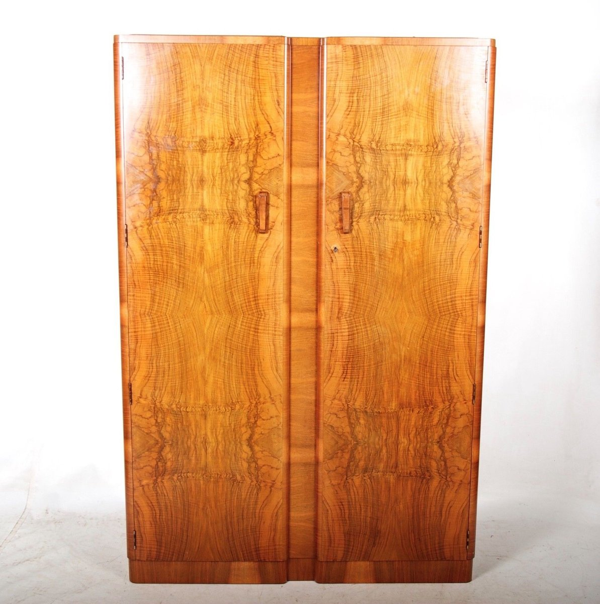 art deco french walnut double compactum wardrobe 1930s art deco figured walnut wardrobe vintage