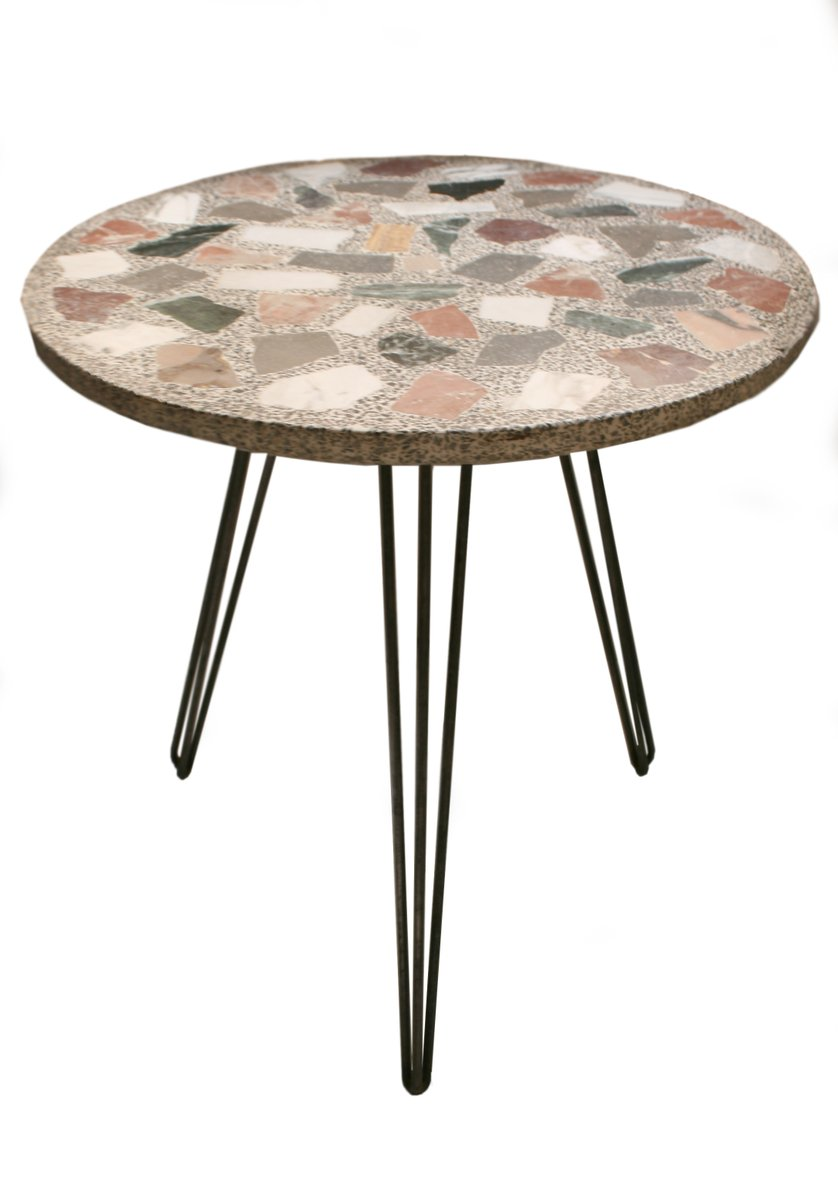 table de jardin terrazzo vintage en marbre 1950s en vente sur pamono. Black Bedroom Furniture Sets. Home Design Ideas