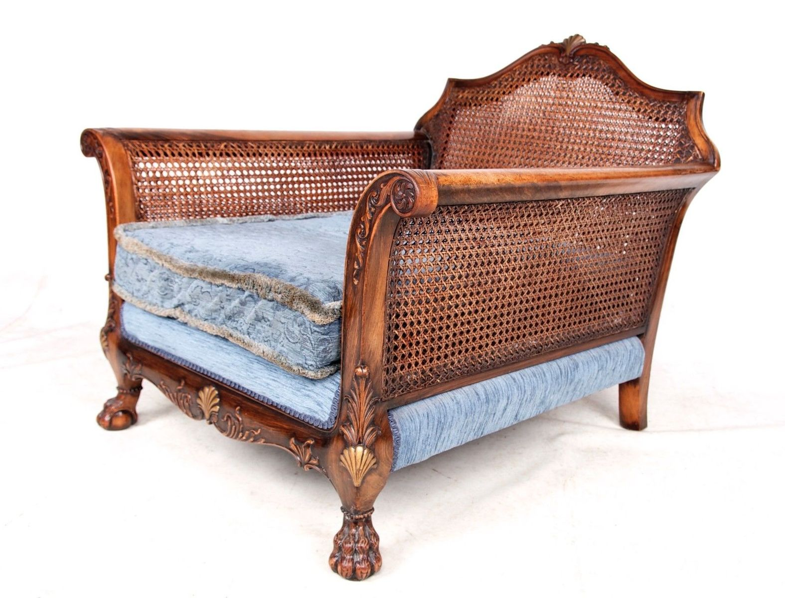 Antique velvet chair - French Antique Velvet Berg Re Armchair