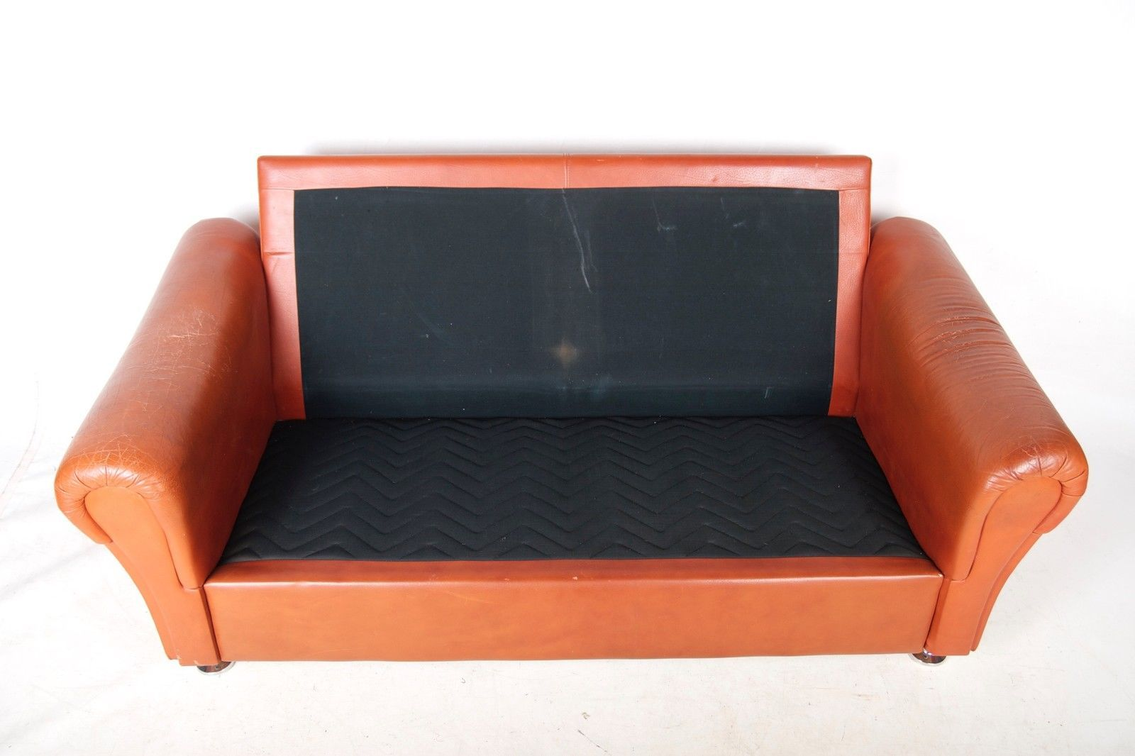 vintage danish tan brown leather sofa by mogens hansen for s