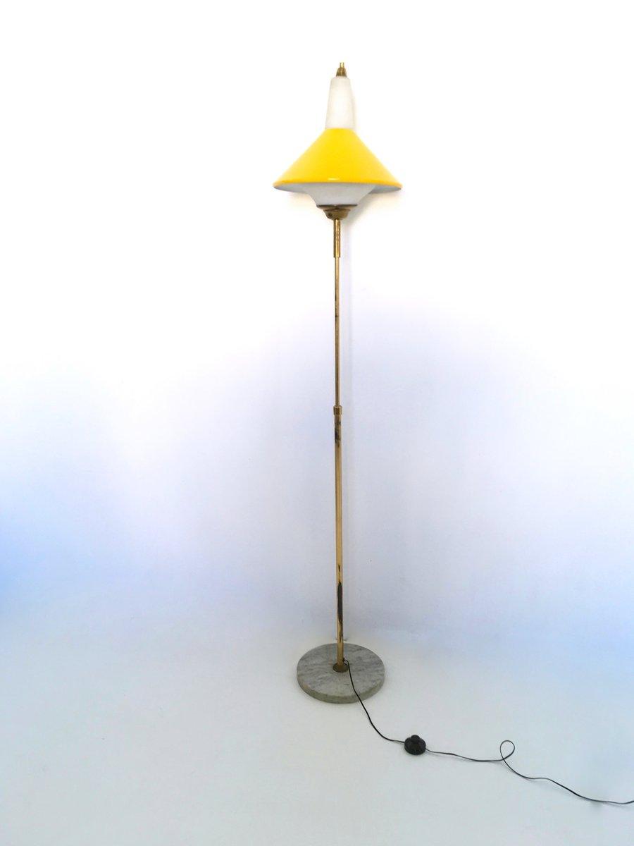 teleskopische stehlampe aus metall messing und marmor. Black Bedroom Furniture Sets. Home Design Ideas
