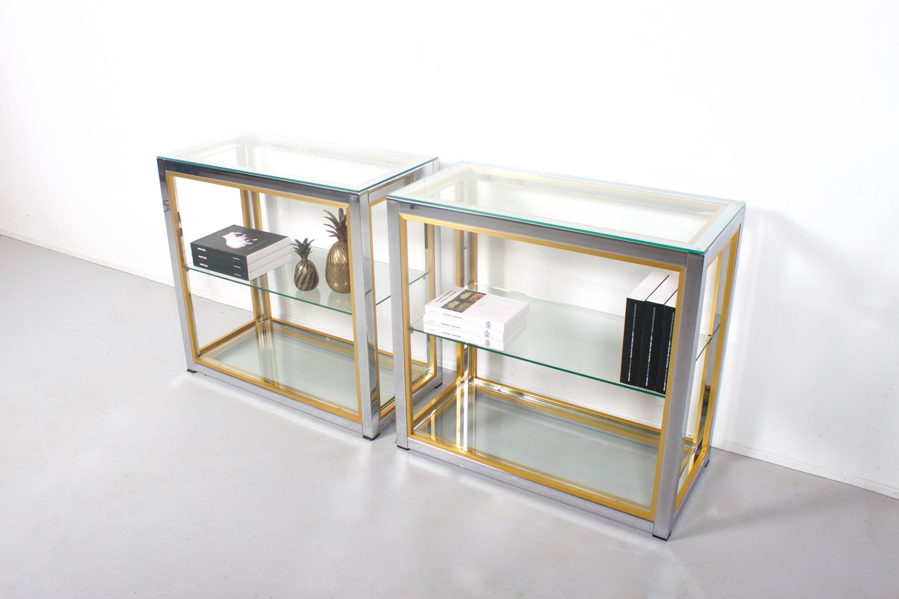 vintage brass and chrome tag re by renato zevi for sale at pamono. Black Bedroom Furniture Sets. Home Design Ideas