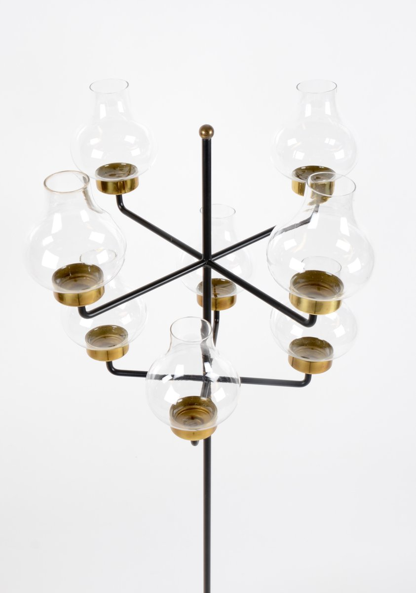 Nice Swedish Floor Or Table Candelabra By Hans Bergström For Ateljé Lyktan