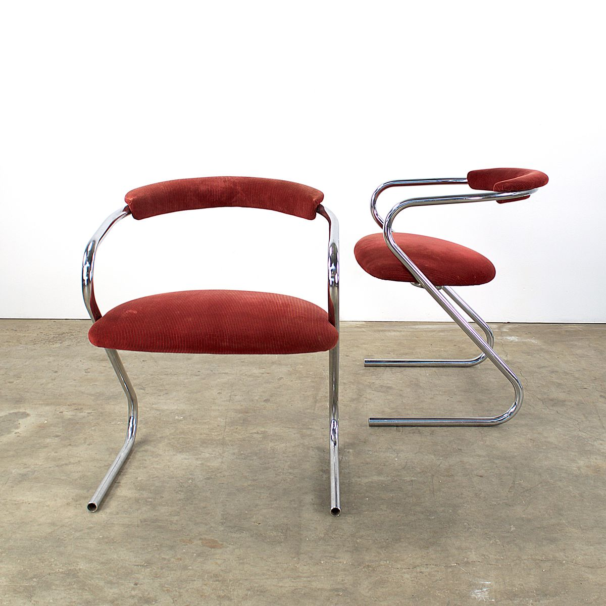 Danish Z Frame Armchairs from Lammhults, 1970s, Set of 2 for sale at Pamono