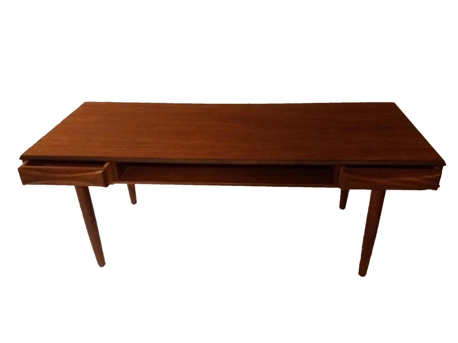 Danish teak coffee table with shelf 1960s for sale at pamono for Coffee table with shelf underneath