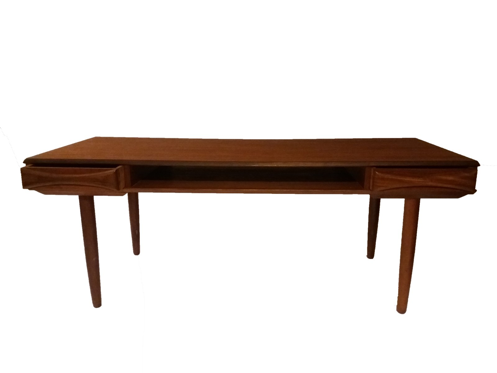 Danish Teak Coffee Table With Shelf 1960s For Sale At Pamono