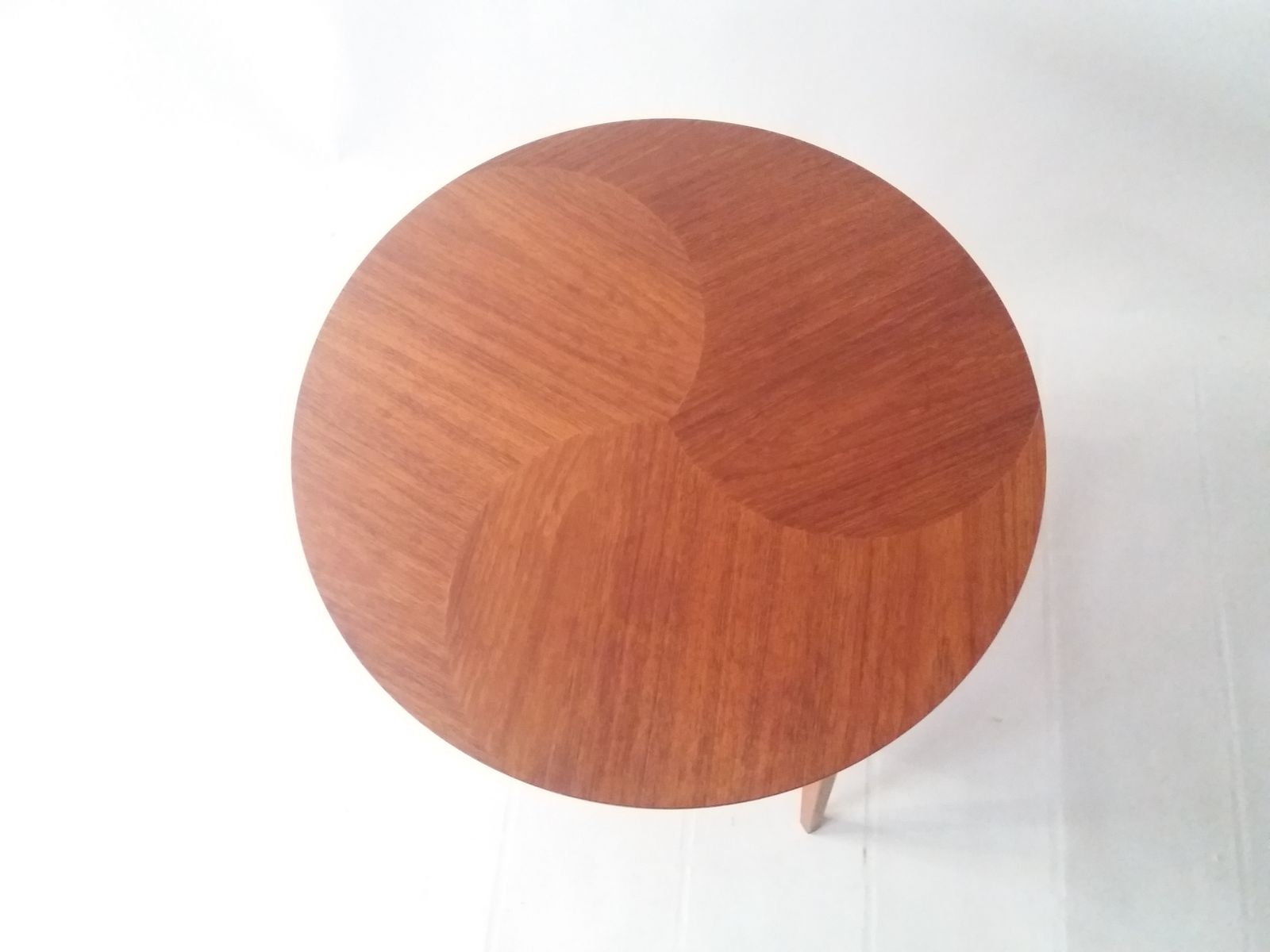 Round Danish Teak Coffee Table 1960s for sale at Pamono