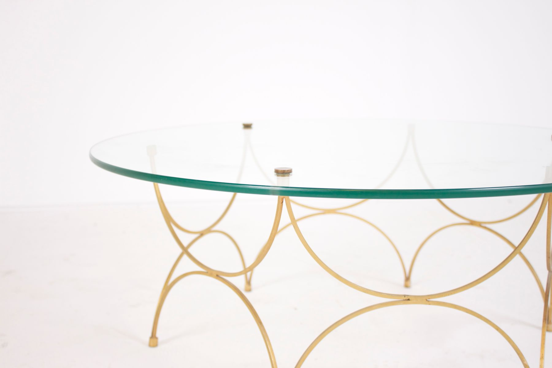 Small French Glass Coffee Table 1960s