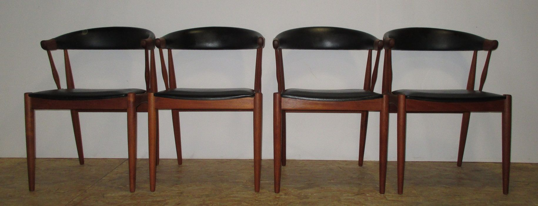 Danish Dining Chair danish dining chairsjohannes andersen for brdr, 1964, set of 4