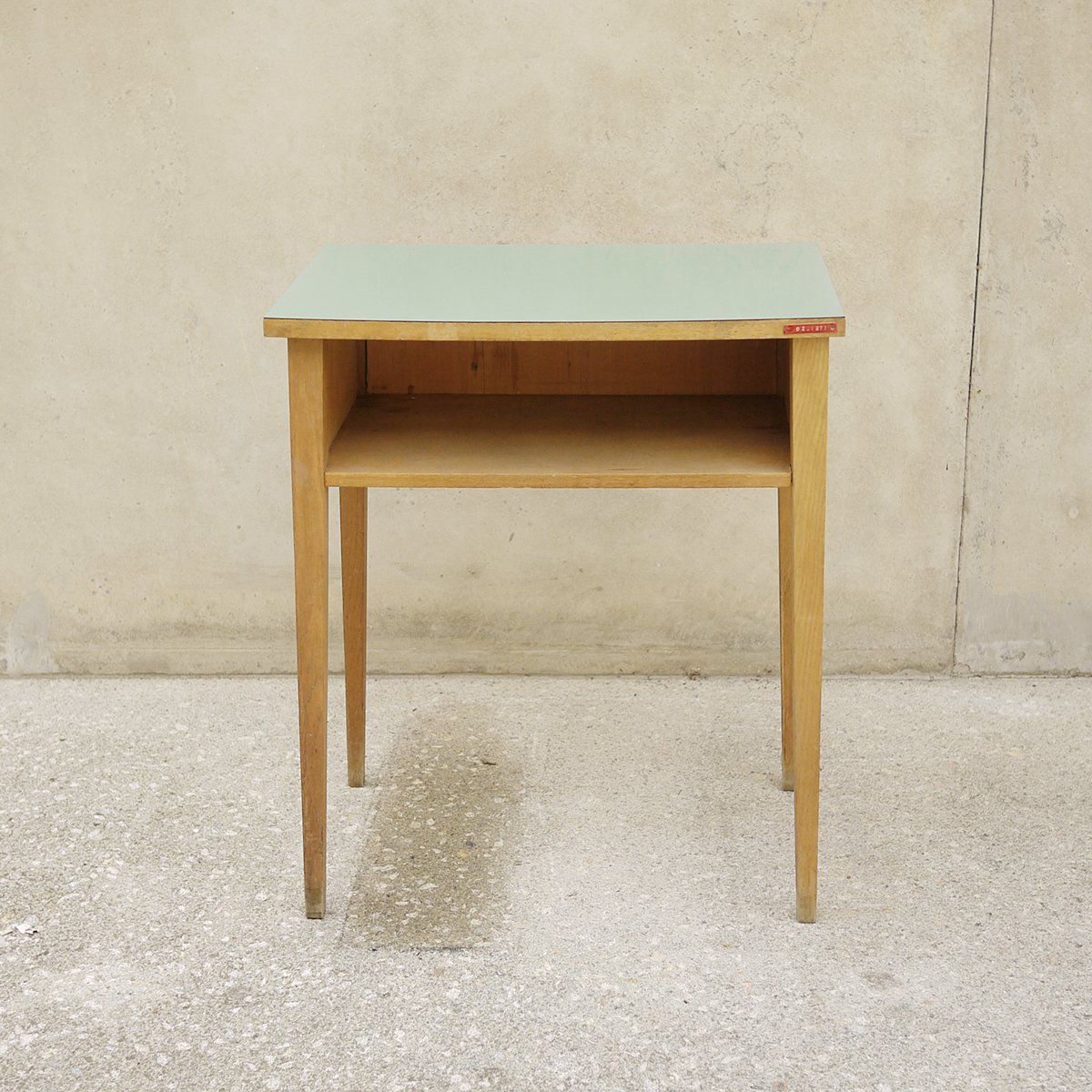 Wooden Side Table Vintage Wooden Side Table With Green Top For Sale At Pamono