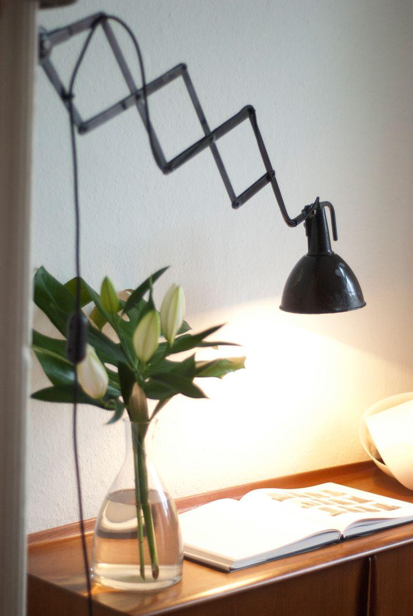 gro e emaillierte industrie lampe mit gelenk bei pamono kaufen. Black Bedroom Furniture Sets. Home Design Ideas