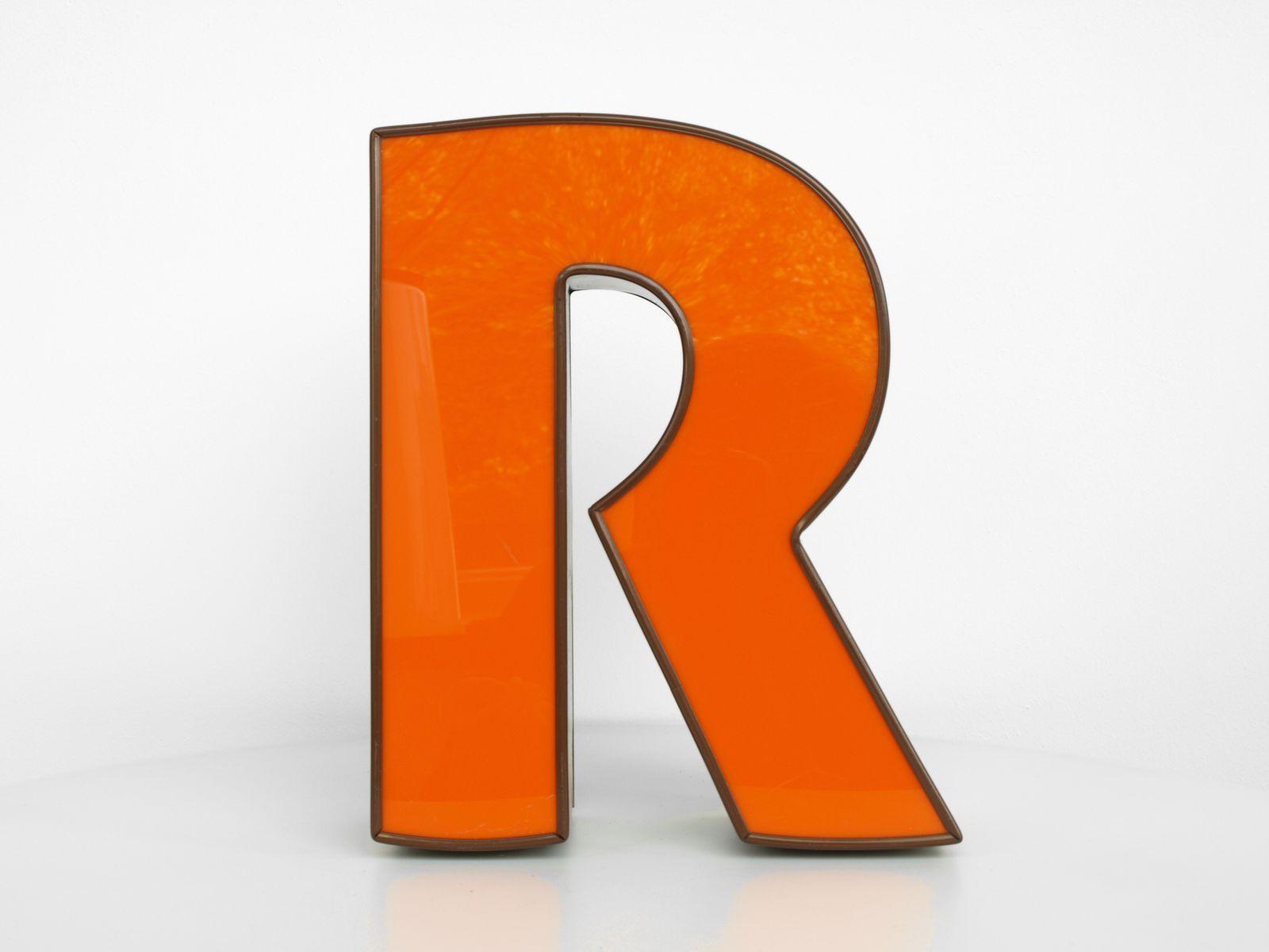 Vintage Leuchtbuchstabe R In Orange Braun Bei Pamono Kaufen
