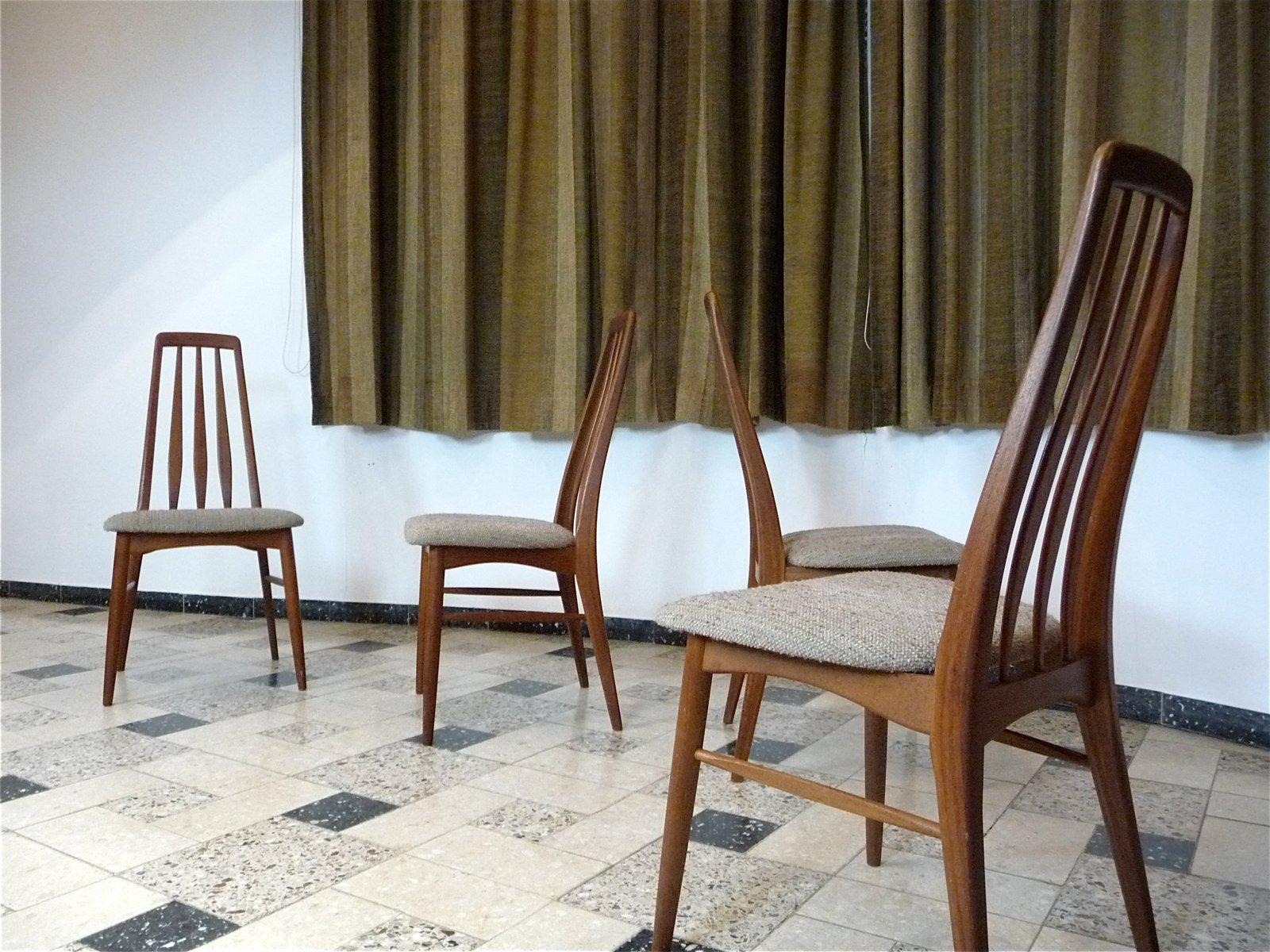 Eva Teak Dining Chairs by Niels Koefoed for Koefoed M¸belfabrik
