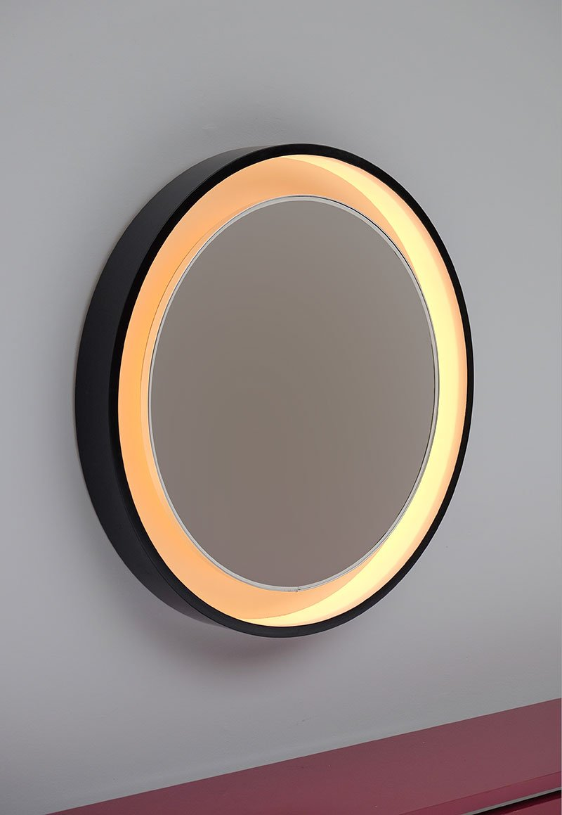Large backlit round mirror for sale at pamono for Big circle mirror