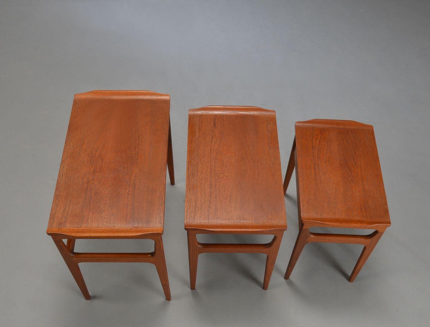 Wonderful image of Danish Mid Century Teak Nesting Tables from Heltborg Møbler for Domus  with #AE521D color and 1400x1064 pixels