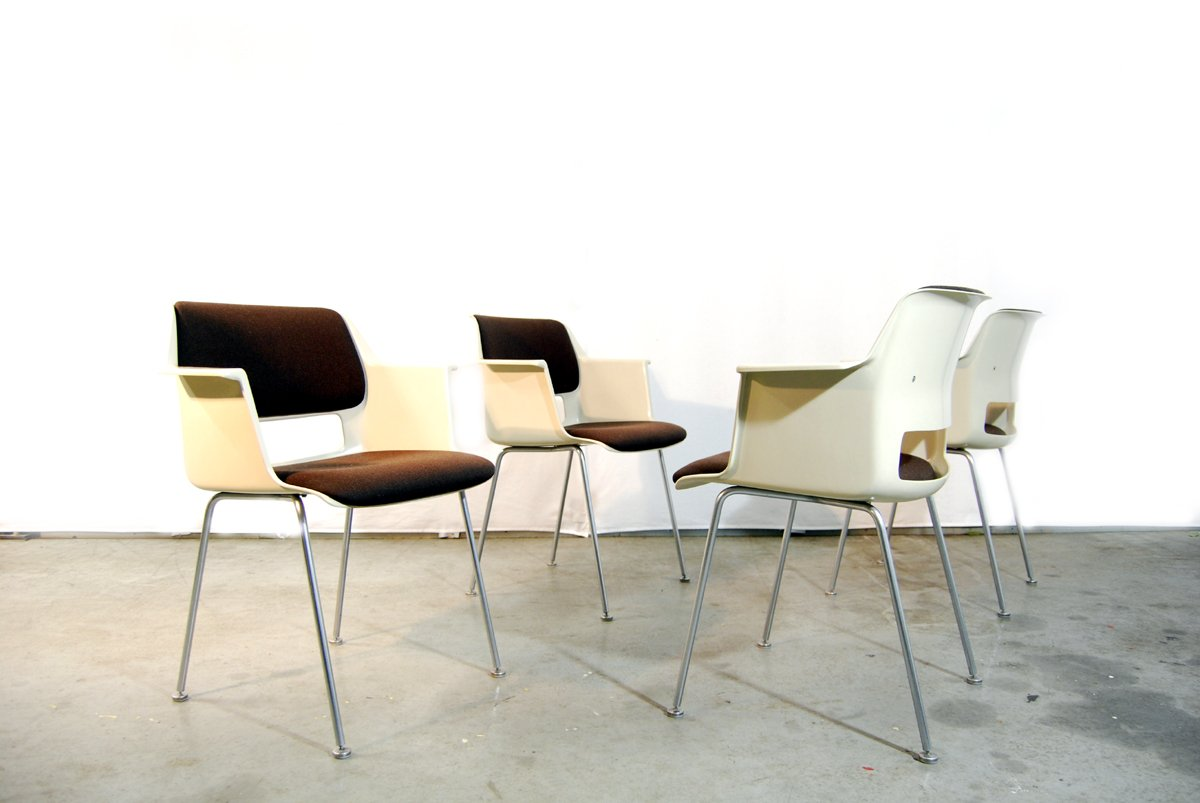 Dutch Modern Dining Chairs by AR Cordemeijer for Gispen 1960s
