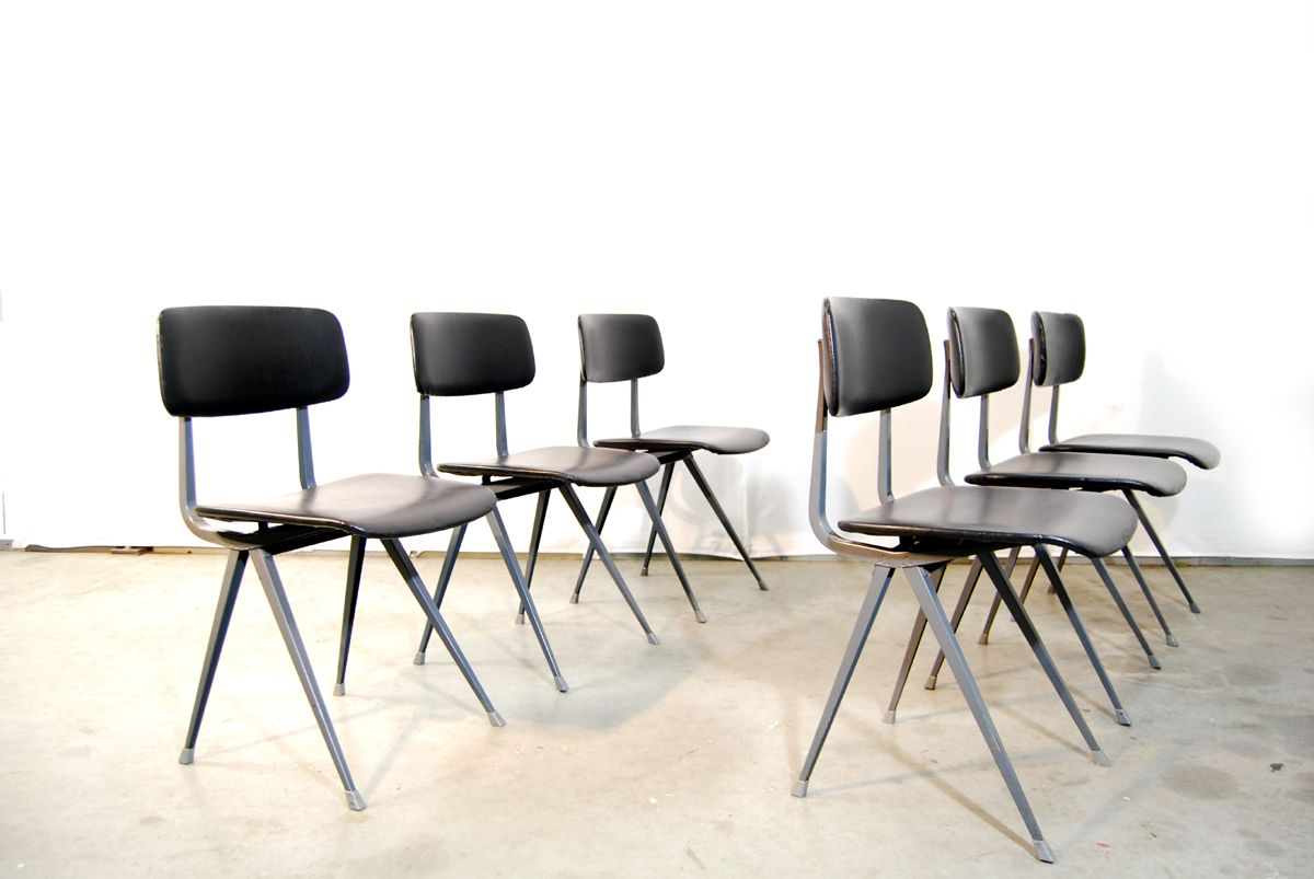 Industrial result dining chairs by friso kramer for ahrend de cirkel 1960s set of 6 for sale - Kamer dining ...