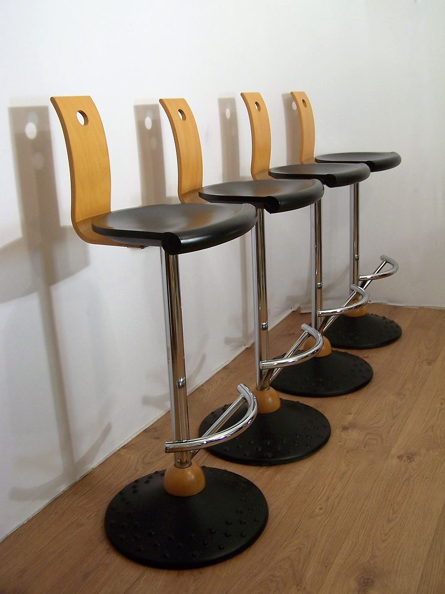 Vintage French Bar Stools From Mirima Set Of 4 For Sale