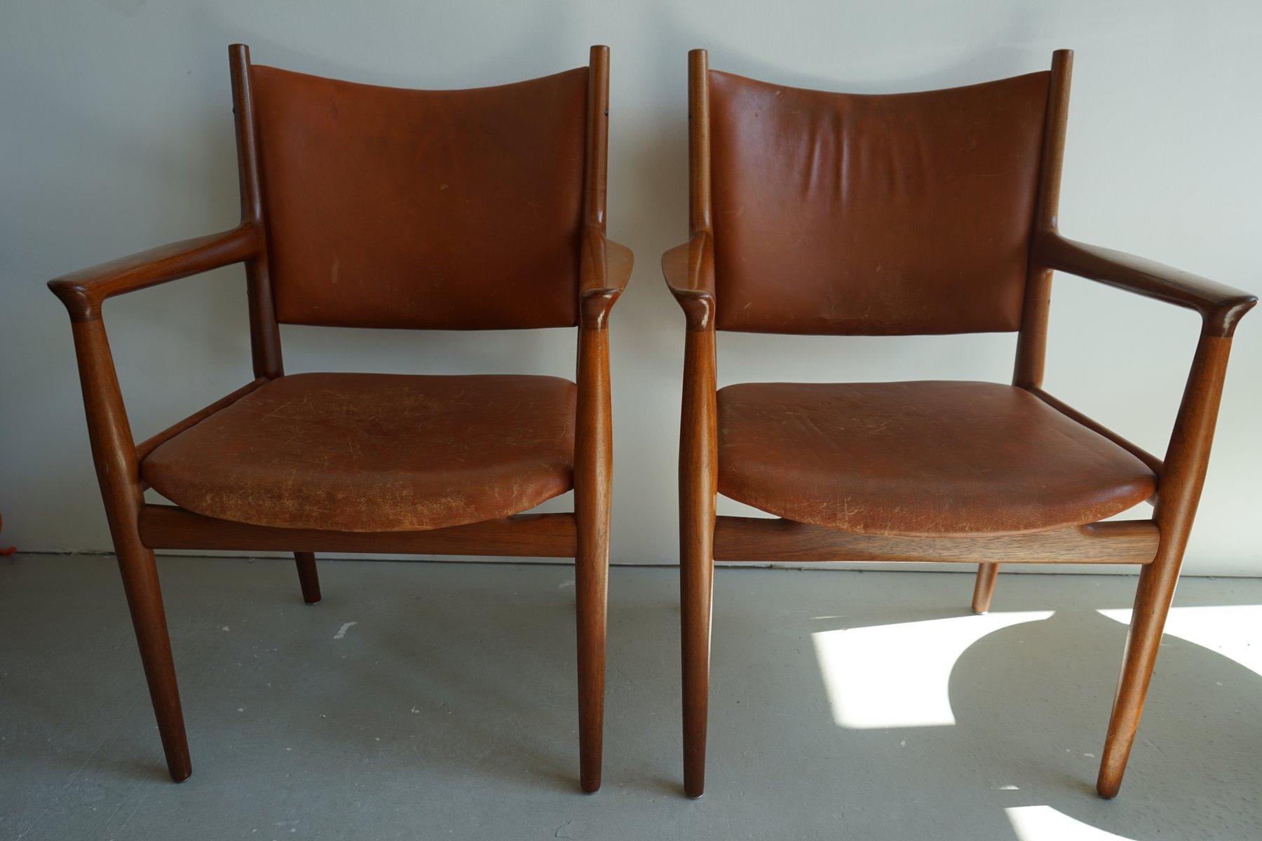 Mid Century JH 713 Chair by Hans Wegner for Johannes Hansen for