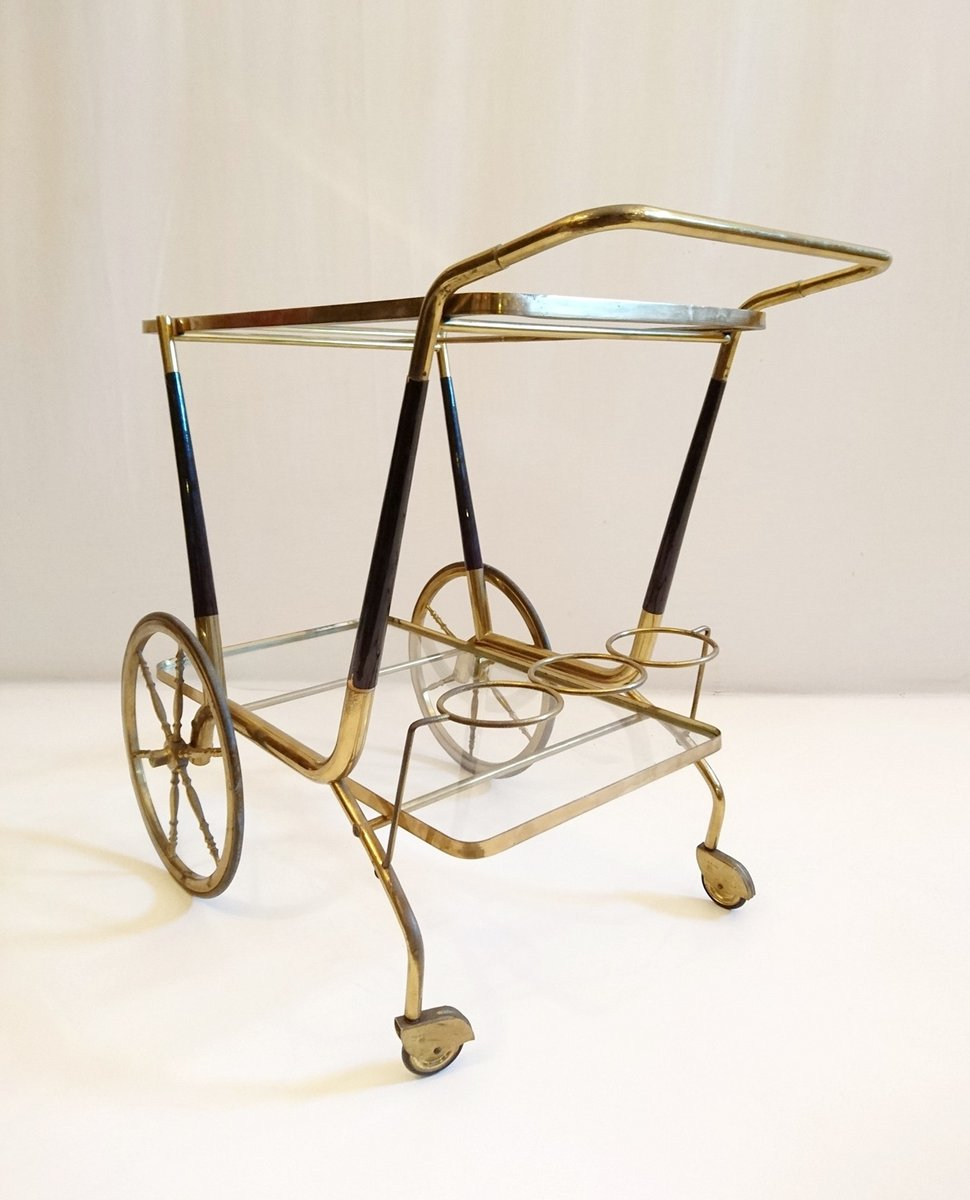 mid century italian bar cart by cesare lacca for sale at. Black Bedroom Furniture Sets. Home Design Ideas