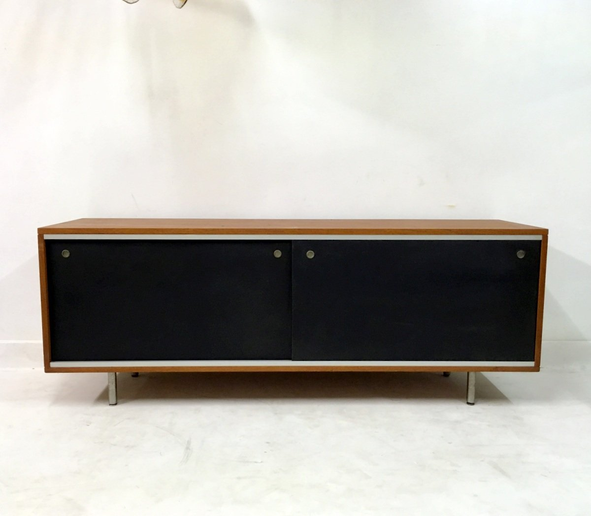 Retro Credenza Mid Century Teak Credenza By George Nelson For Herman Miller For