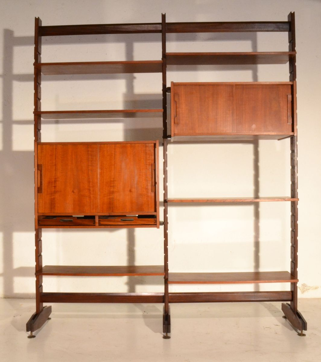Italian wall unit with two cabinets for sale at pamono for Italian cabinets
