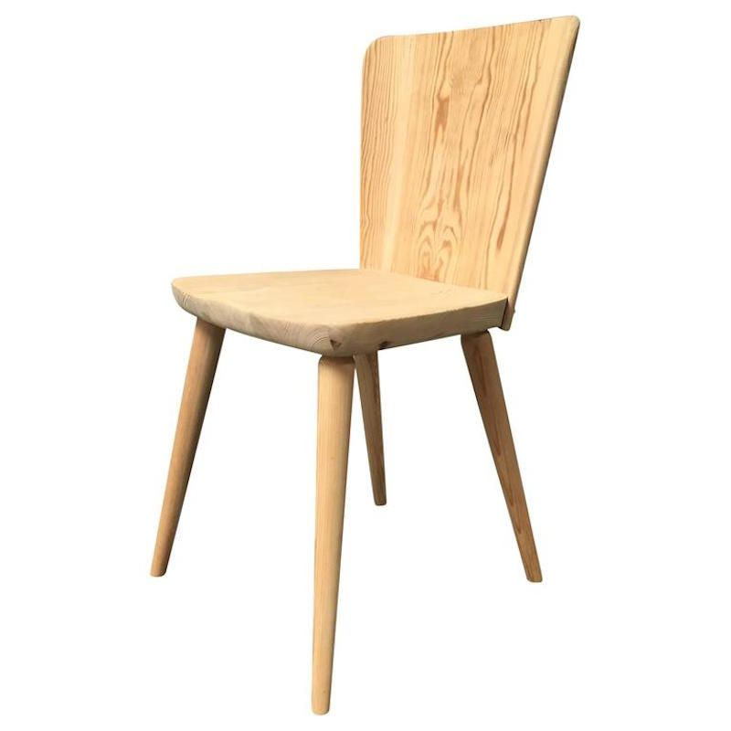Swedish Pine Chair By Goran Malmvall, 1940s