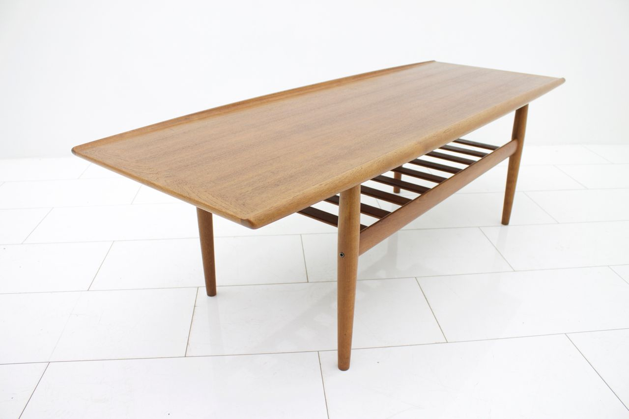 Vintage teak sofa table by grete jalk for p jeppensens for Sofa table sale