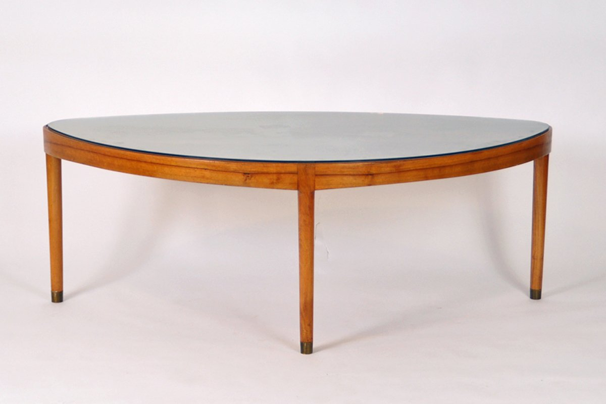 Mid Century Danish Walnut Coffee Table For Sale At Pamono