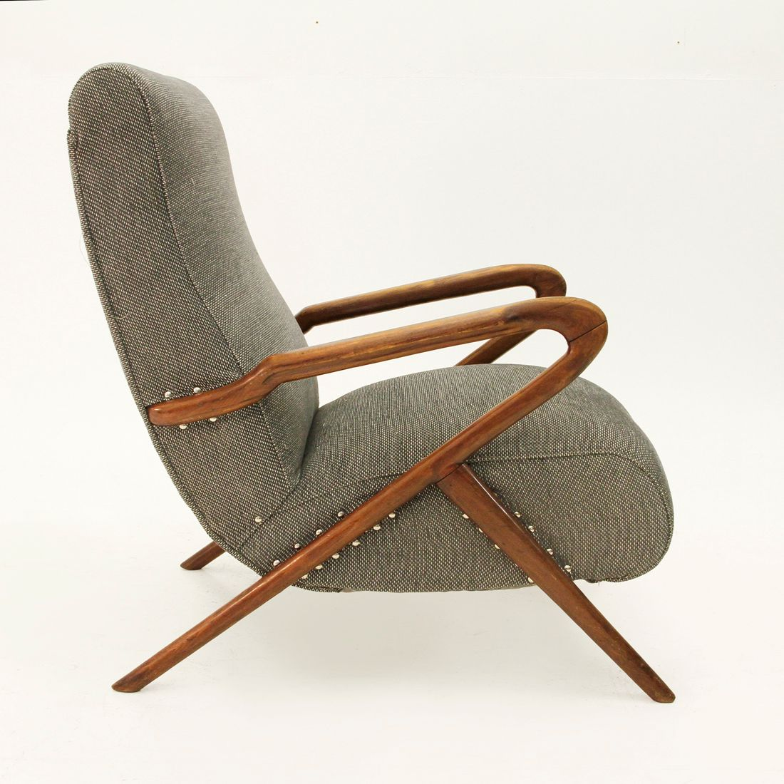 Artdeco Sessel deco sessel mit holzgestell 1940er bei pamono kaufen
