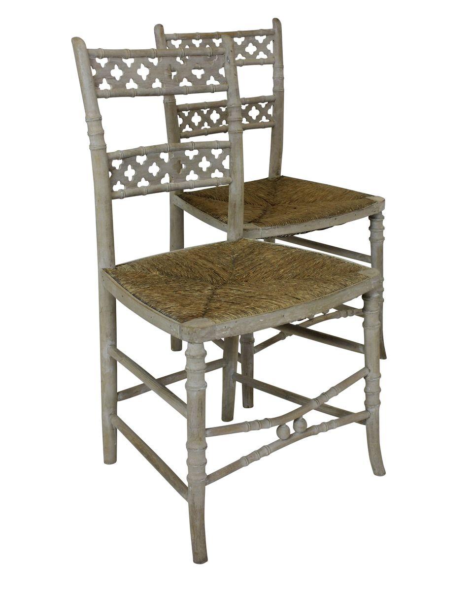 antike regency gotische st hle 4er set bei pamono kaufen. Black Bedroom Furniture Sets. Home Design Ideas
