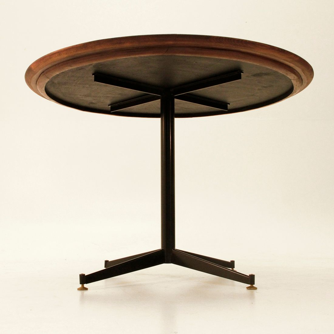 Italian Glass Dining Table Mid Century Italian Black Glass Dining Table For Sale At Pamono