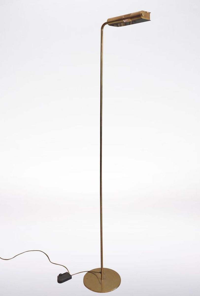 Tall italian brass floor lamp 1970s for sale at pamono for Next brass floor lamp