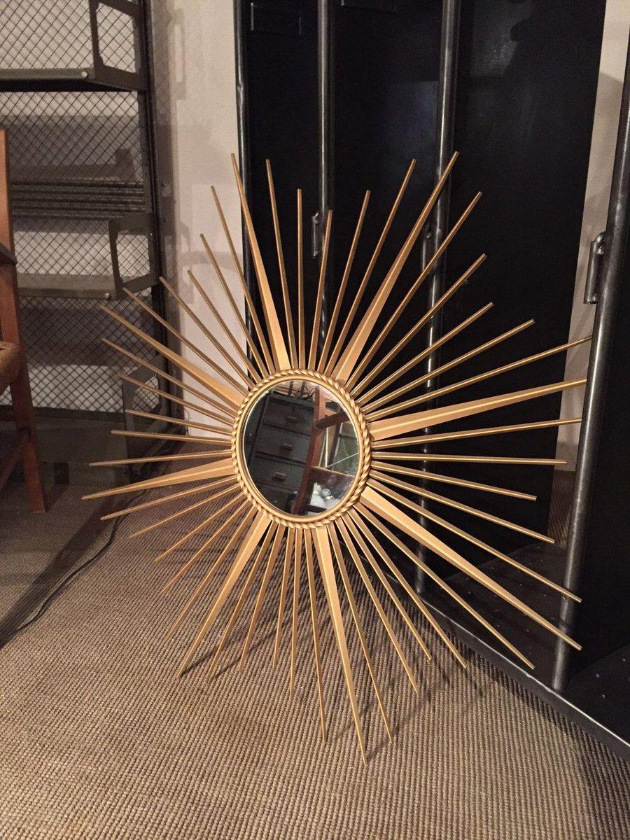 miroir soleil de chaty vallauris france 1950s en vente sur pamono. Black Bedroom Furniture Sets. Home Design Ideas