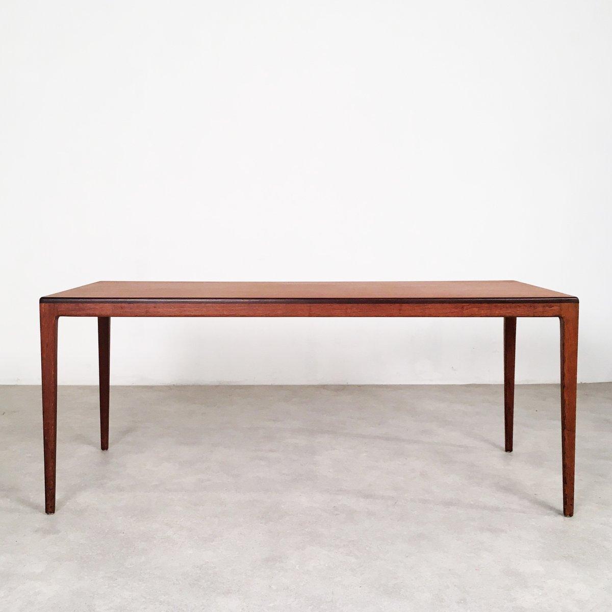 Teak and Oak Side Table by Georg Leowald for Wilkhahn 1950s for