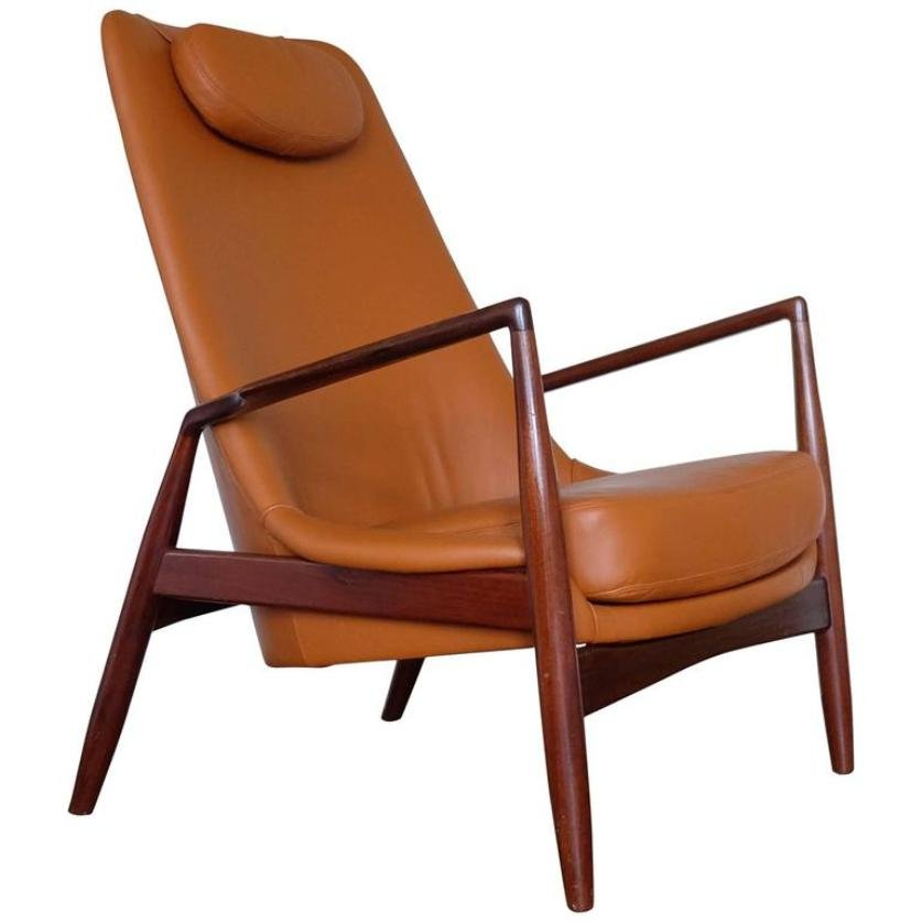 Superior Swedish Seal Leather Easy Chair By Ib Kofod Larsen For OPE, 1960s For Sale  At Pamono