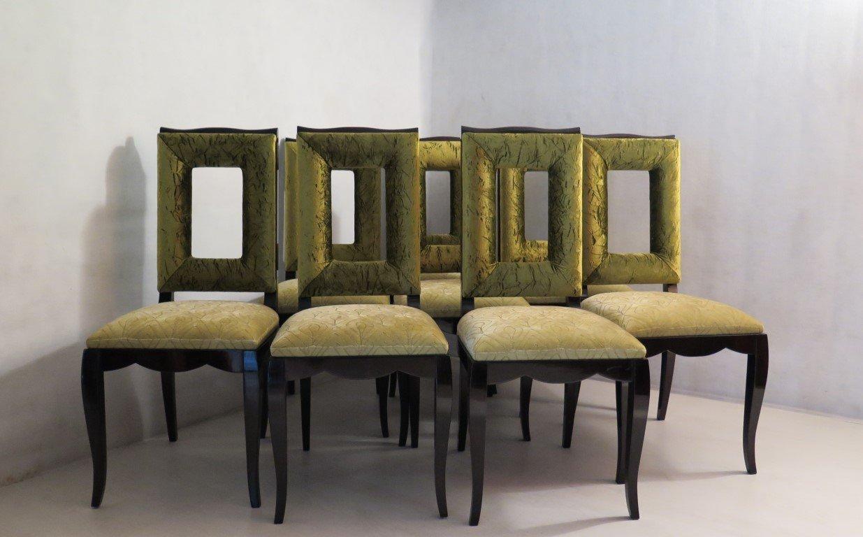 esszimmerst hle 1930er 8er set bei pamono kaufen. Black Bedroom Furniture Sets. Home Design Ideas
