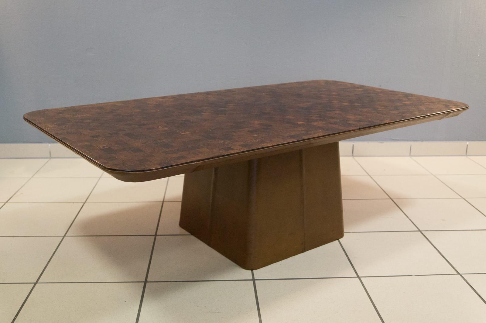 couchtisch aus leder palisander von de sede 1960er bei. Black Bedroom Furniture Sets. Home Design Ideas